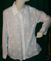 WHITEWASH Soft Cotton Oversized Blouse Sz S