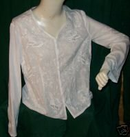KARAVAN Beautiful Embroidered Blouse Sz M
