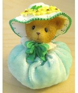 Avon Spring Bonnet Teal Teddy Bear Collectible ... - $6.50