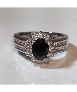 Black Sapphire 10KT WGF Ring Size 7 - $39.99