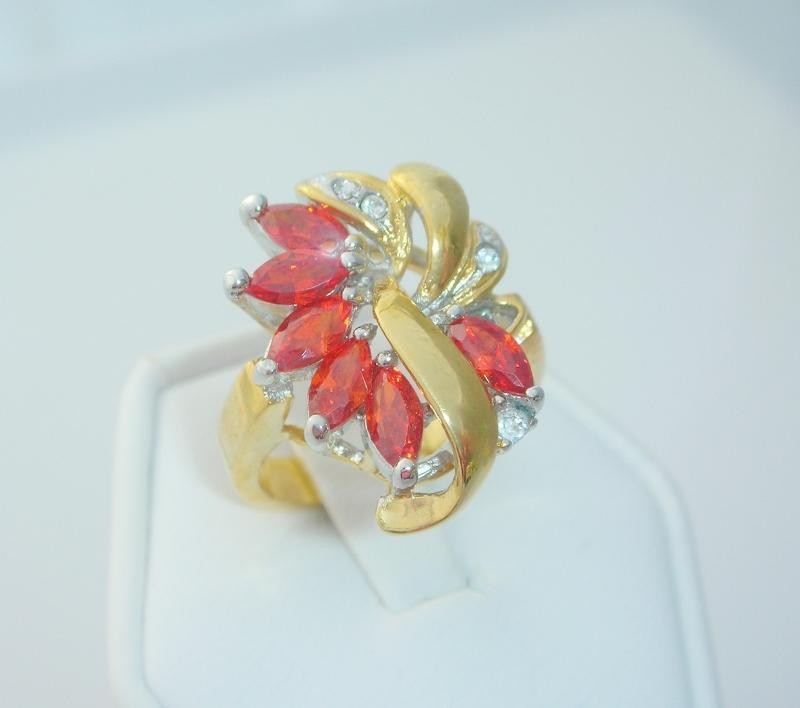 Caribbean Sunset Ladies Fashion Ring Size 6
