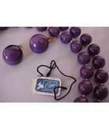 Vintage Purple Bead Necklace & Earrings Set Coro?? - $8.50