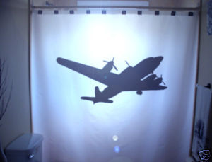 SHOWER CURTAIN Airplane plane WWII Bomber B52 B-17 US
