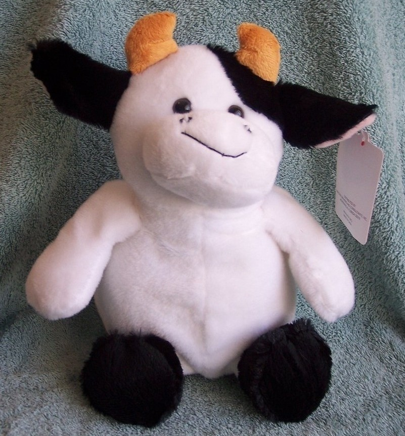 Hug & Luv Stuffed Cow, NWT