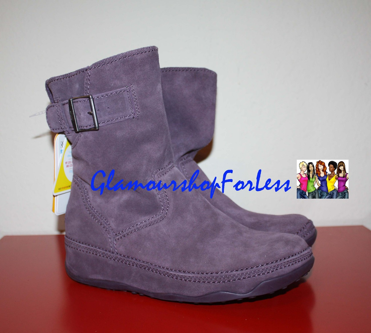 FITFLOP short suede superboot - Amethyst Size 10 US NEW w/o Box