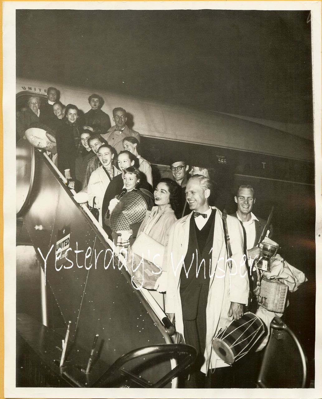 1950s PHOTO SF Ballet Lew Christensen Candid United Air