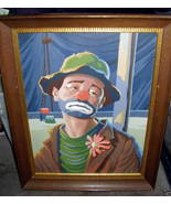 Sad Clown Vintage Paint by Numbers 11 1/2
