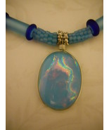 Necklace: Light Blue Beaded Beads, Cobalt Blue ... - $89.00