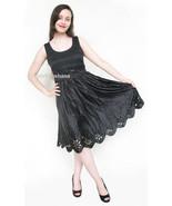 100% Silk Eylet Black Dress 6 US 10 UK 36 EU - $139.00