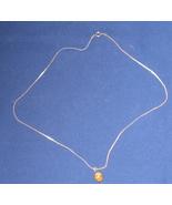 Tiger Eye Sterling Pendant  Necklace - $45.44