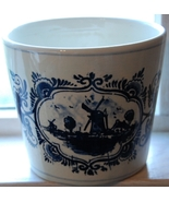 Hand Painted Delft Planter - Holland - $11.00