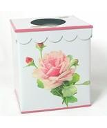 Chic White Tissue Box~Blush Pink Bathroom Kleen... - $16.95