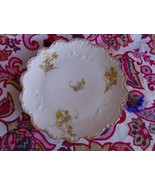 Ornate Limoges Plate with Scattered Flowers Gra... - $24.99