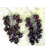 Cluster of Red Natural shape Rondelle Garnet Da... - $61.16