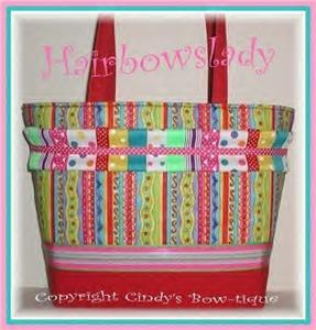 Confetti Ribbon POLKA DOTS Stripes Tote Bag Diaper Bag