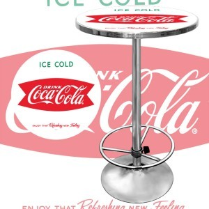 DRINK ICE COLD COCA COLA COKE BOTTLE DINER PUB TABLE