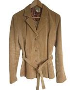 Womens Suede Leather Jacket Coat Size Medium Ta... - $20.00
