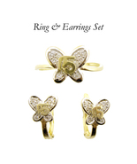 10k Real Gold Ring & Earrings Set