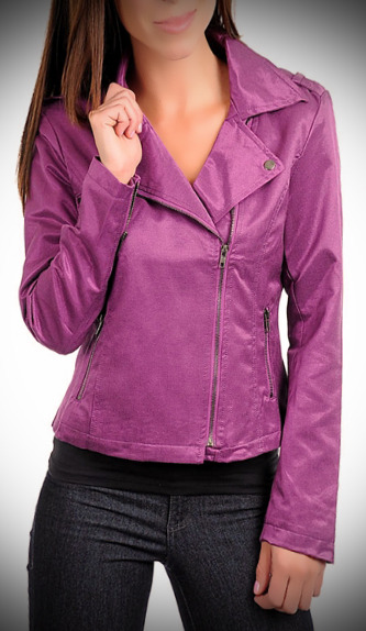 Purple Side-zip Jacket-Small