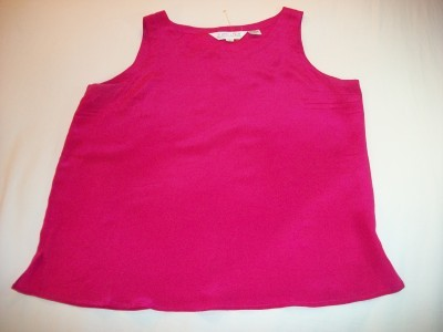 WOMEN LADIES SUNNY LEIGH FUSCIA SILK TOP SHIRT L LARGE