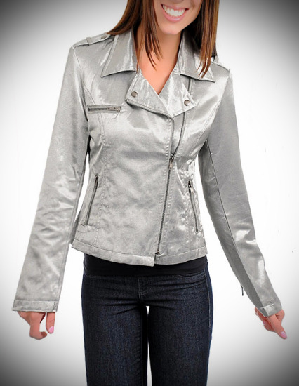 Silver Side-zip Jacket-Medium