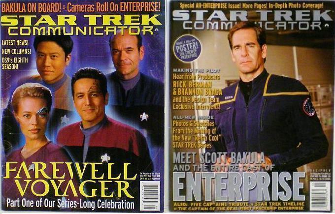 Star Trek Communicator Magazine issue 133 & 135 2001