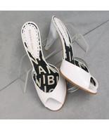 Shoes Gianni Bini Mules White Pumps Size 7.5M - $18.00