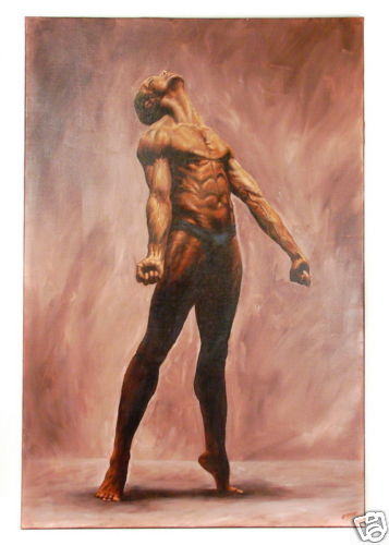 Marcelo Guerra - Nude Male Dancer - Original Painting