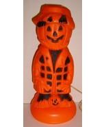 SPOOOKY!  Halloween Pumpkin Head Scarecrow Lamp - $28.99