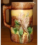 Antique MAJOLICA Pottery Milk Pitcher  - $35.00