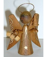 Vintage Wooden FERI Angel Ornament - ITALY - $15.00