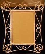 Matte Silver tone Loopy Picture Frame - $5.00