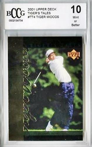 TIGER WOODS 2001 UD RC TIGER TALES #TT4 GRADED 10 MINT