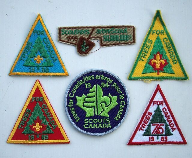 Boy Scouts Trees Scoutrees for Canada Patch Lot (6).