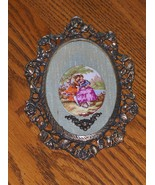 Vintage Cameo Decorative Wall Picture Brass - $19.97