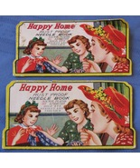 Vintage Needle Book Happy Home Sewing Gold Eye ... - $6.92