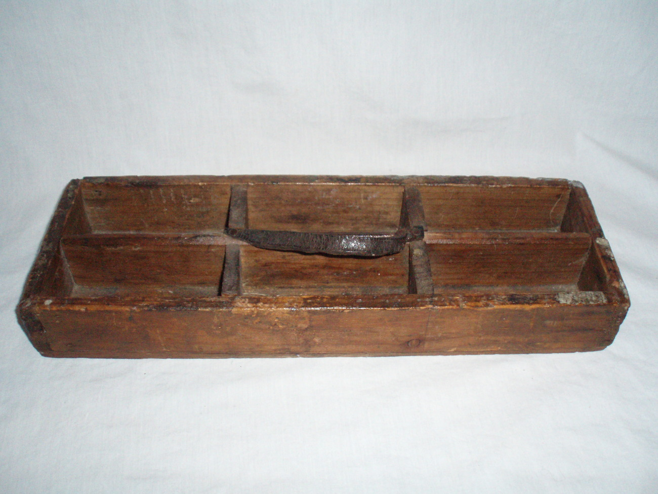 antique farriers tray nail caddy spice tray bead holder