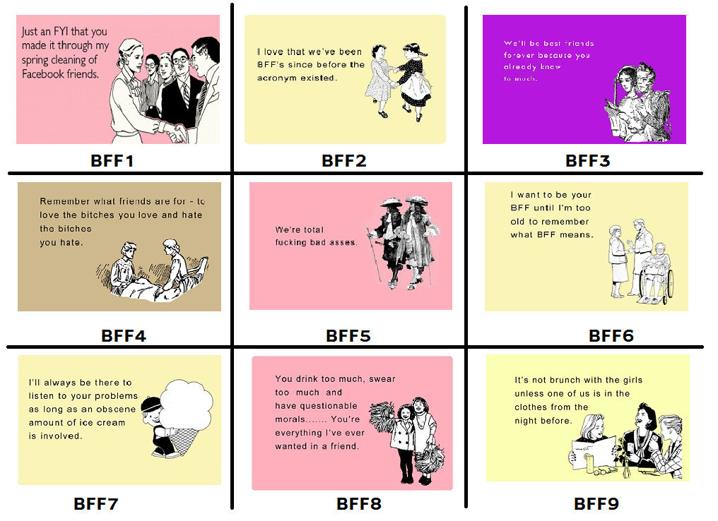 Buy e greeting ecards gifts - Bff - Best Friend Mousepad - Choose One - Christmas Gift - Ecard
