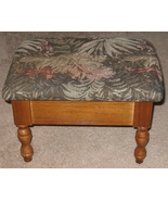 Floral Tapestry Footstool w/ Storage - $26.99