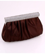 F7147-BRW  Brown Evening Bag   - $26.00