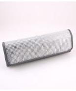 W7151-GRY  Gray Evening Bag w/ Rhinestone Cover   - $32.00