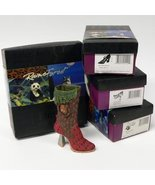 Just the Right 4 Shoes Raine Forest Endangered Species-Bear-Panther-Owl-Wolf NWF - $249.99