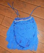 Blue fringe skirt panties dance wear silver sew... - $10.00