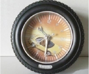 Racing Tire Clock with Alarm