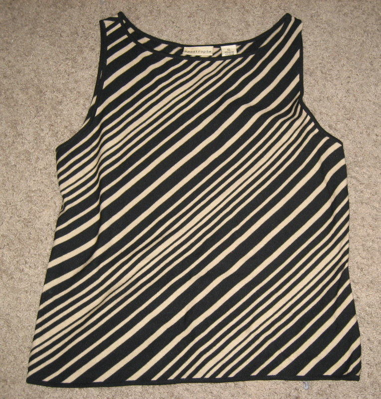 apostrophe knit dressy tank top career XL