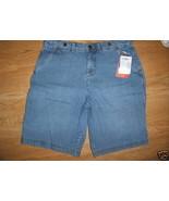 Ladies Faded Glory Bermuda Light blue jean SHOR... - $8.99