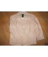 Ladies Harve Benard Cotton JACKET Blazer Sand B... - $14.99