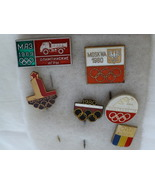 Six Olympic Pins, 1969 & 1980 Moscow, 1978 Mont... - $43.75