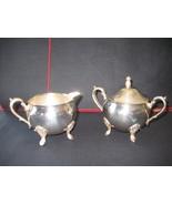 Leonard Silverplate Creamer and Sugar Bowl  - $19.13
