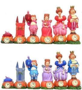 Cinderella Chess Pieces   Very Collectible